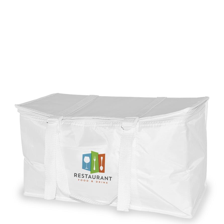 Polyester-Kühltasche mit Boden- und Seitenfalte
