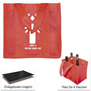 PP-Non-Woven-Tasche mit Flaschenabteilungen