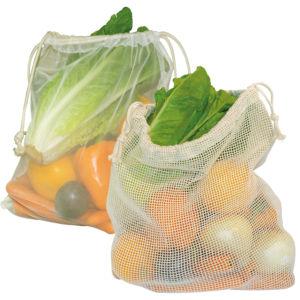 Veggie Bags mit Baumwoll- oder Nylonnetz