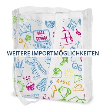 Importmöglichkeiten textile Werbemittel